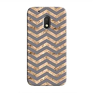 Cover It Up - Brown Grey Tri Stripes Moto G4 Play Hard case