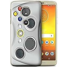 Phone Case for Motorola Moto E5 2018 Games Console White Xbox 360 Design Transparent Clear Ultra Slim Thin Hard Back Cover