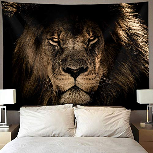 Mountain Gorgeous Lion Gifts (JACINTANG Tapestry Mandala Hippie Bohemian Tapestries Wall Hanging African Lion Mane Close Eyes Tapestry Wall Hanging Indian Dorm Decor 60 x 70 inches)