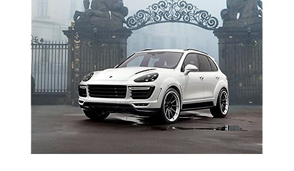 Amazon.com: Porsche Cayenne Vantage by TopCar (2015) Car Print on 10 Mil Archival Satin Paper White Front Side Static View 18