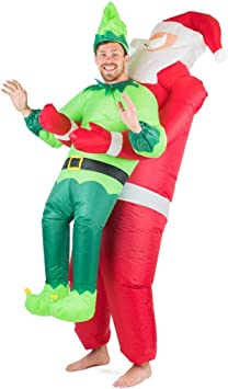 Bodysocks Fancy Dress Disfraz Hinchable de Papá Noel y Elfo para ...