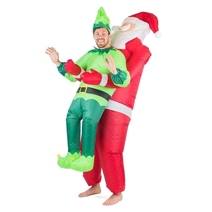 Bodysocks Fancy Dress Disfraz Hinchable de Papá Noel y Elfo ...