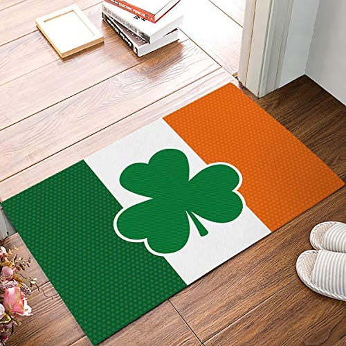 Rubber Doormat Outdoor Door Mats Rubber Shoes Scraper for Front Door Entrance Outside Doormat Shamrock in The Irish -