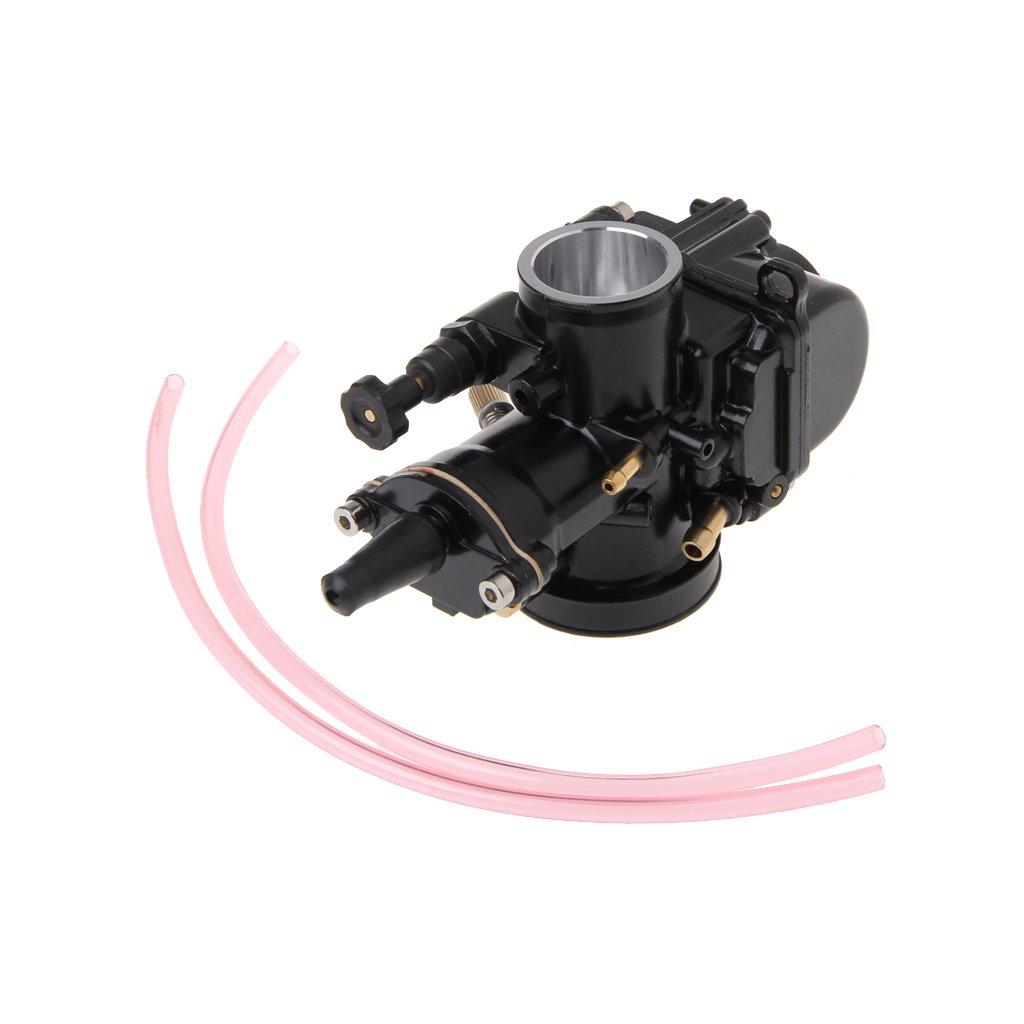 FXCO Carburateur universel de moto 28mm pour Keihin Carb PWK Mikuni avec Power Jet