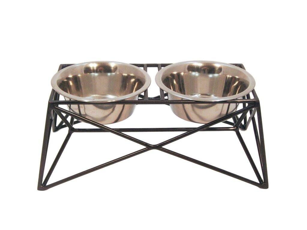Martin|Deutschman Wire Dog Bowl Feeders, Bronze Metallic Finish