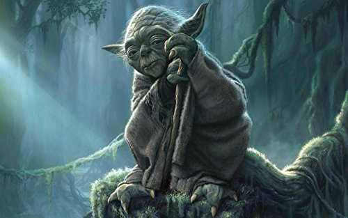 Yoda Master Jedi Star Wars movie poster family silk wall print 40 inch x 24 inch