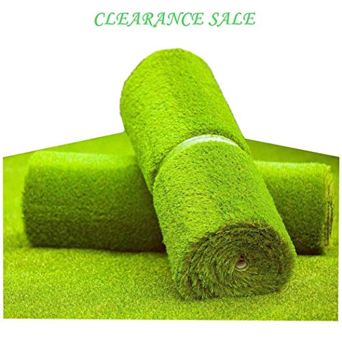 MTBRO Artificial Grass Rug, Realistic Fake Grass for Patio and Yard, Professional Outdoor Artificial Turf for Dogs, Blade Height 1.5 Inch,100 Ounce/Sq.Yd,5 Feet X 13 Feet