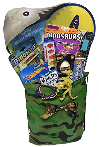 Creature Feature Care Package with Hot Wheels, Dinosaurs and Activities for Boys Birthday, Get Well