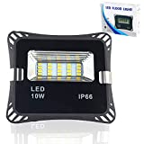 Auto On/Off LED Light Sensor Security Light, IP66 Waterproof, 900LM,180°Beam Angle, 30000H Lifespan Outdoor Flood Light, Street Night Light for Garden, Yard, Gate, Aisle (Daylight White(5000K), 10W)