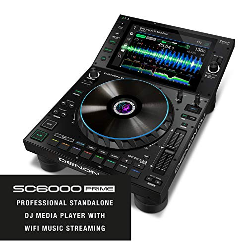 Great Deal! Denon DJ SC6000 PRIME - Professional Standalone DJ Media Player with WiFi Music Streamin...
