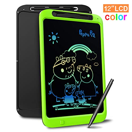 LCD Writing Tablet, Richgv 12 Inch Colorful Update Digital Electronic Graphics Tablet Ewriter Mini Board Handwriting Pad Suitable for Kids and Adults -