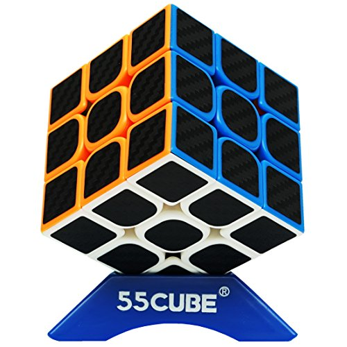 Structural Carbon Fiber - 55cube Carbon Fiber Cube 3x3 Speed Cube With Carbon Fiber Stickers