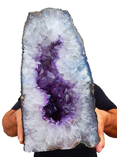 Beverly Oaks Large Amethyst Crystal Cathedral ~ Raw Amethyst Stone Geode ~ 34.27 lb Amazing Amethyst Cluster by (AC-23E)