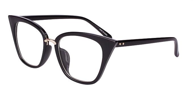 Beison Womens Cat Eye Mod Fashion Eyeglasses Frame Clear Lens