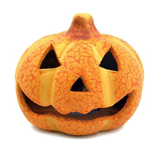 ornerx Halloween Decorative Jack-O-Lantern Glitter LED Flashing Pumpkin Light 1Pc