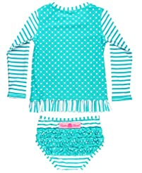 RuffleButts Little Girls Long Sleeve Ras...
