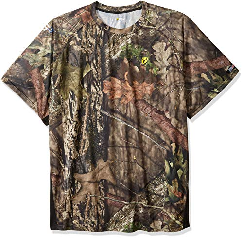 Scent Blocker Men's 8th Layer Short Sleeve Shirt, Mossy Oak Country Break Up, 3X-Large