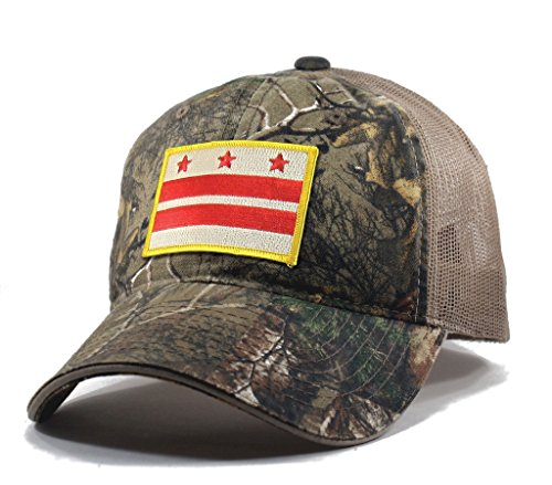 Homeland Tees Men's Washington DC Flag Patch Camo Trucker Hat - - Mall Vernon Mount