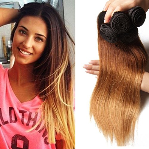 Longqi-Top-Quality-Brazilian-Ombre-Virgin-Straight-Hair-3-Bundles-7a-Remy-Silky-Straight-Hair-Weave