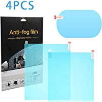 Coucci Car Rear view Mirror Anti Fog Rainproof Waterproof Film Protective Film (100 x 145 mm and 175 x 200 mm) -4 Pieces