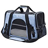 Peteme Airline Approved Pet Carrier, Soft Sided Cat Carrier, Dog Carrier Airline Approved for Cats, Small Dogs, Pups, Guinea Pigs and Small Animals