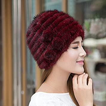 Wuyulunbi  Gorros tejidos para dama Sombreros Sombreros en otoño y en  invierno 54ec1314be0c