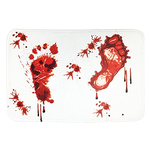 Blood Bath Mat Entrance Rug Non-slip Bathroom Bloody Doormat