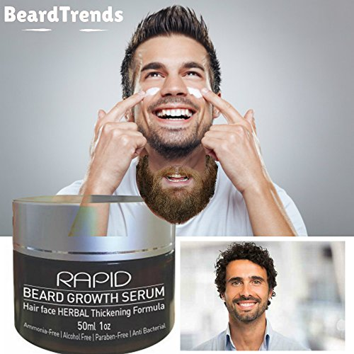 Price comparison product image MR. BOND Beard Growth Serum | Facial Hair Herbal Thickening Formula | Mens Hair Growth Natural Minerals and Vitamins | Rapid