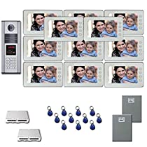 Apartment Building Video Entry 11 7 monitor door panel camera kit