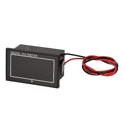 5 UNIDS 6-80 V 2-Wire Pantalla Digital LED Porcentaje de la Batería Voltímetro Medidor de Voltaje Eléctrico Mini Volt Tester Auto Car Motorcycle -plata: Bricolaje y herramientas