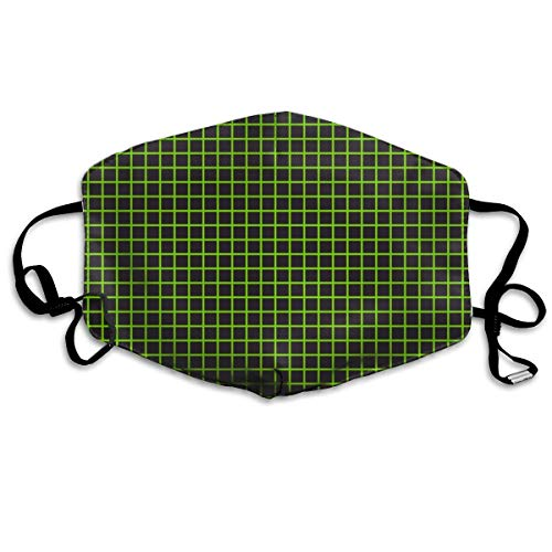 Halloween Math Notebook Grid Neon Green Anti Dust