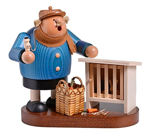 KWO Chubby Bunny Rabbit Breeder German Wood Christmas Incense Smoker Germany