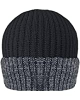 Winter HAI-709 Beanie Hat Thinsulate Lined, Unisex, Black/Grey