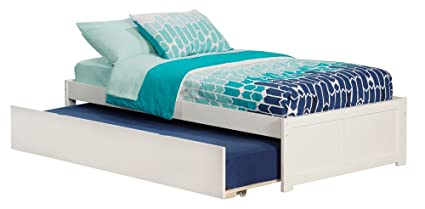 Trundle Bed.Atlantic Furniture Ar8022012 Concord Platform Bed With Twin Size Urban Trundle Twin White