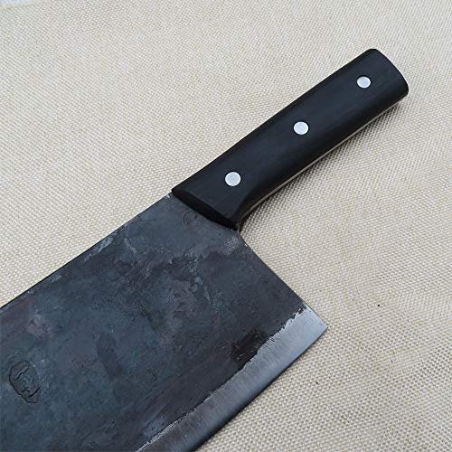 Meat Cleaver Heavy Duty - Stainless Steel Chopper Knife with Solid Wood Handle, for Home & Restaurant Use-Manual Forging by LI CAI DAO (Image #4)
