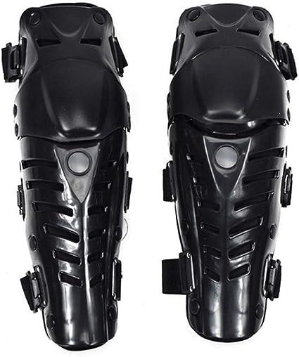 1 par de Almohadillas de Rodillera m/óviles Protector de Gorra Ajustable de Rodilla Armadura para Motocicleta Ciclismo Racing Set Black Almohadilla Protectora de Rodilla de Bicicleta de monta/ña