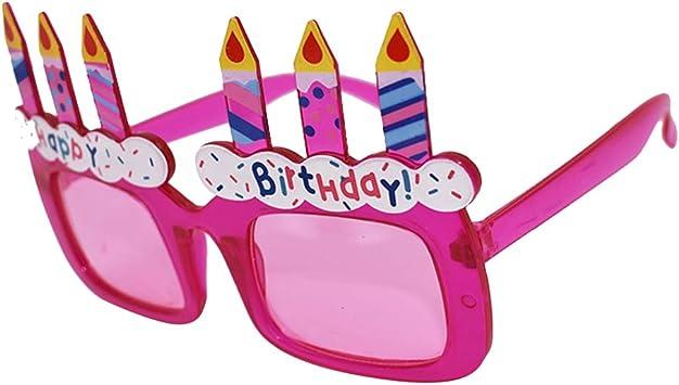 Amazon.com: BESTOYARD - Gafas de sol para cumpleaños, diseño ...