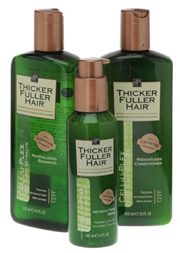 Thicker Fuller Hair Hair Solutions Revitalizing Shampoo, Weightless Conditioner and Instantly Thick - Fuller Hair Thicker Shampoo Revitalizing