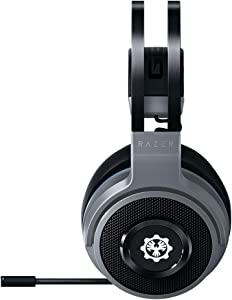 Razer Thresher Xbox One y Xbox Serie X / S Gears of War 5 Edition Auriculares Inalámbricos para juegos,16 horas de duración,controlador de 50 mm,Windows Sonic,almohadillas cuero sintético,Plateado