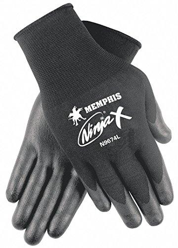 Memphis N9674XL Ninja x Bi-Polymer Coated Gloves, X-Large, Black, (Bi Polymer Gloves)