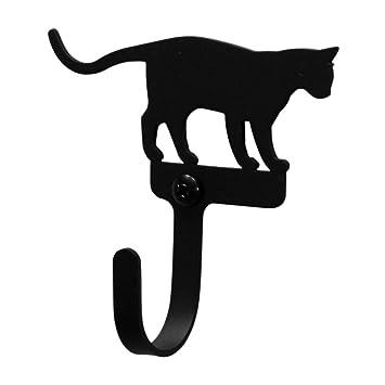 Amazon.com: Cat At Play de hierro gancho de pared ...