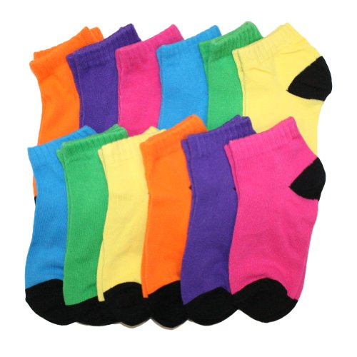 Angelina Cotton Low Cut Trainer Socks (12-Pack) 2305_BNEO_10-13