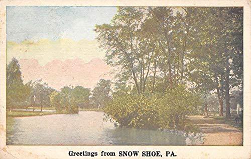 Snow Shoe Pennsylvania Scenic Waterfront Greeting Antique Postcard K670876
