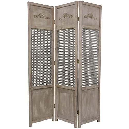 Oriental Furniture 6 ft. Tall Open Mesh Room Divider