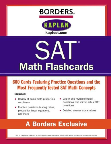 Borders SAT Math Flashcards PDF