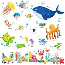 Decowall, DW-1311, Under the Sea peel & stick Nursery wall decals stickers