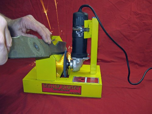 Yellow Hornet Lawn Mower Blade Sharpener / Grinder Motor NOT Included