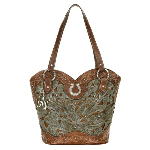 American West Zip Top Tote, Bags Central