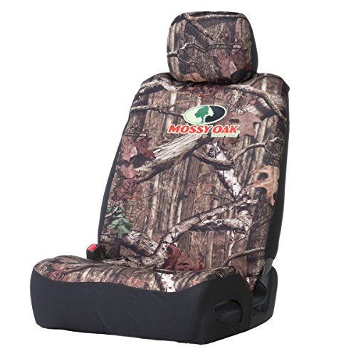 Browning Buckmark Neoprene Low-Back Mossy Oak Camo Bucket Seat Cover (Mossy Oak Infinity Camouflage, Durable Neoprene Fabric, Includes Headrest Cover, Sold Individually)