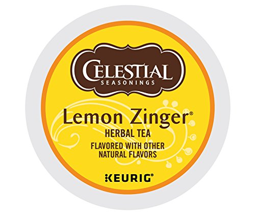 Celestial Seasonings Lemon Zinger Herbal Tea, Single Serve Coffee K-Cup Pod, Tea, 72
